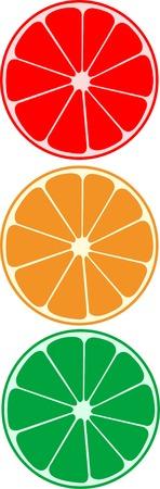 Abstract vector citrus as traffic light Stock Vector - 3886100