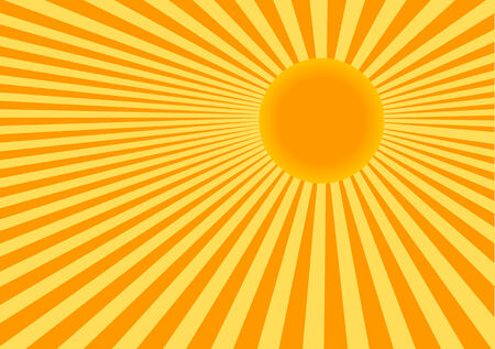 sunbeams: Abstract vector color illustration of sun Illustration