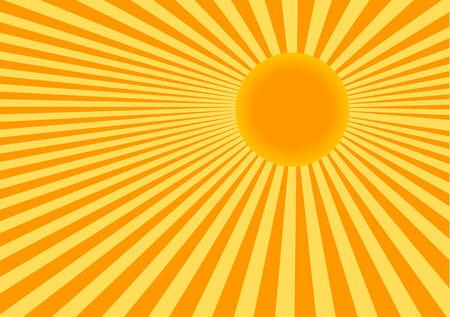 Illustrazione di colore vettoriale astratta del sole