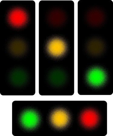 traffic control: Ilustraciones Vectoriales de sem�foro