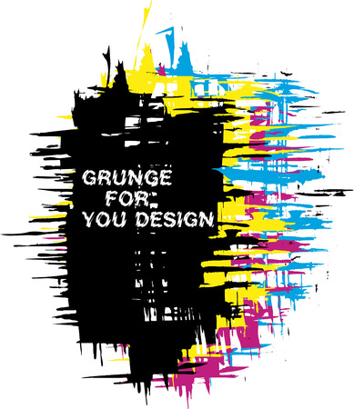 Abstract vector grunge background as CMYK color Vector