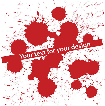blood stain: Abstract vector set of grunge blood spot
