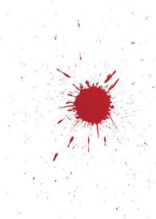 set of grunge vector blood spot for your design
