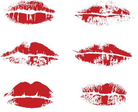 smooch: Abstract vector inprint of lips