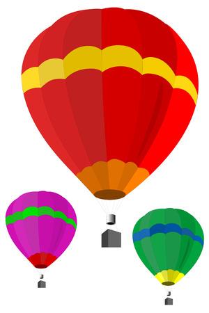 hot air: Vector illustratioon of hot air balloon