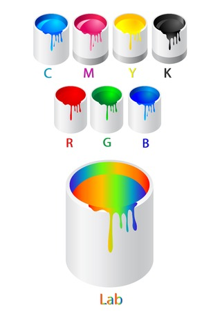 Abstract vector illustration of different color model