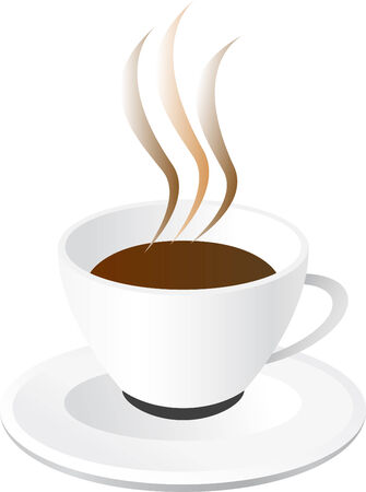 Abstract vector illustration of coffee cup Stock Vector - 3983371