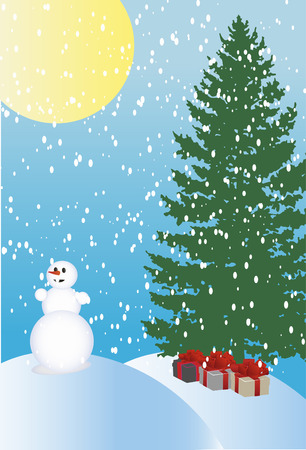 Abstract vector illustration of winter holiday background Vector