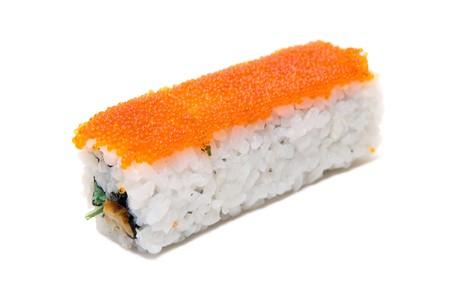 Rolls of sushi isolated on white Stock Photo - 4030518