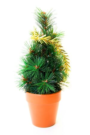 christmas tree toy isolated on white background photo