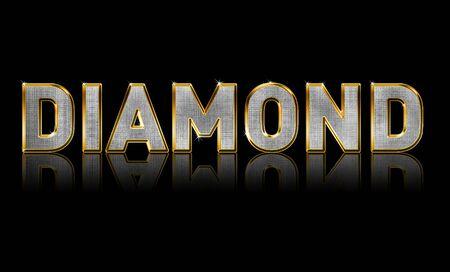 Abstract illustration of  Bling Text, Diamond Sparkle Stock Illustration - 4112739