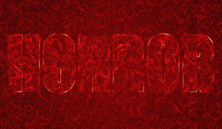 Abstract Horror illustration in blood look illustration