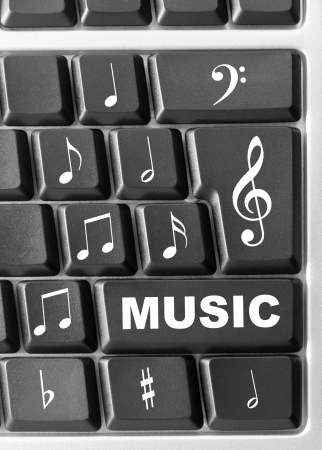 Close-up of Computer music keyboard photo