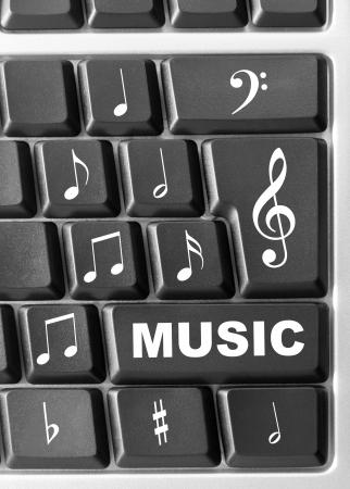 Close-up of Computer music keyboard