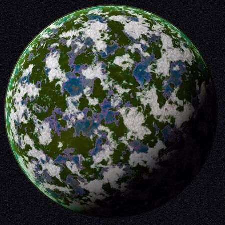 Green planet in outer space photo
