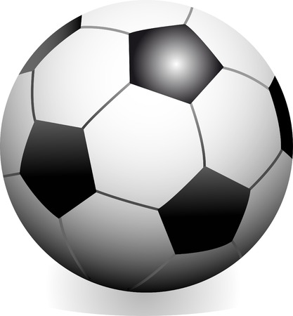 Vector soccer game ball isolated on white background Vector