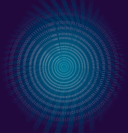 Vector background with binary data Illustration