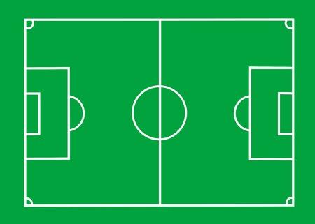 field and sky: Vettoriale Campo di calcio con le linee su verde