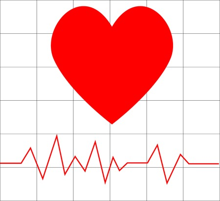 Vector illustrations of heart beat Stock Vector - 4297825