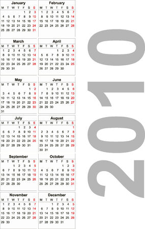 2010 calendar. Can be used for you design Vector