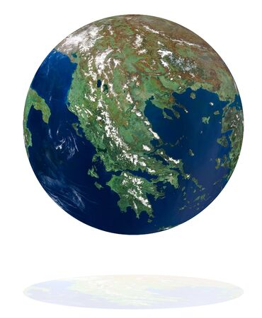 Greece on the Earth planet. Data source: Nasa photo