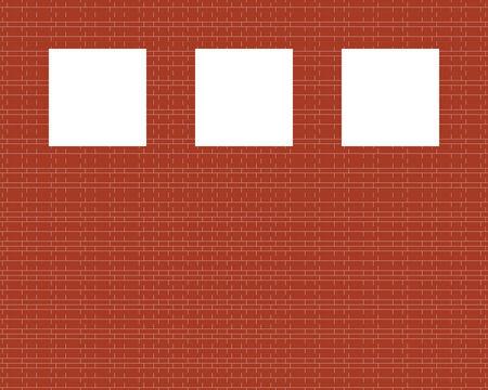 Vector red brick wall illustration Vector