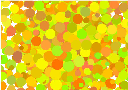 Vector abstract glowing circles on a colorful background Vector