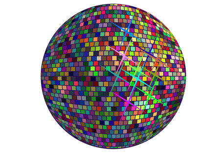 abstract vector disco ball circle on white  background Vector