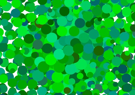 Vector abstract green glowing circles on a colorful background Vector