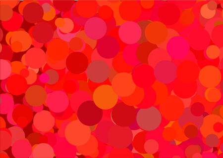 abstract vector red  glowing circles on a colorful background Vector