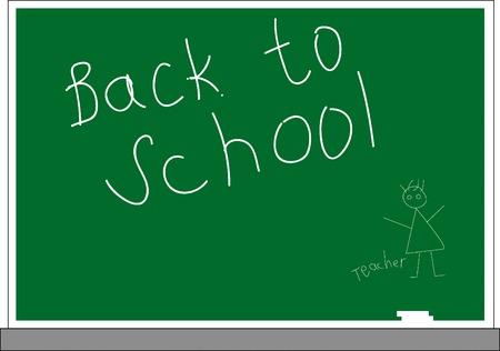 high school student: Ilustraci�n vectorial de Volver al concepto de escuela