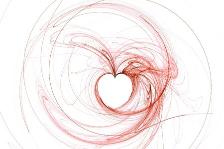 Abstract Heart isolated over white