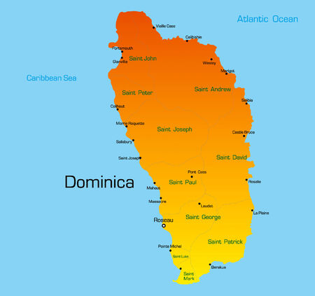 Vector color map of dominica country Vector