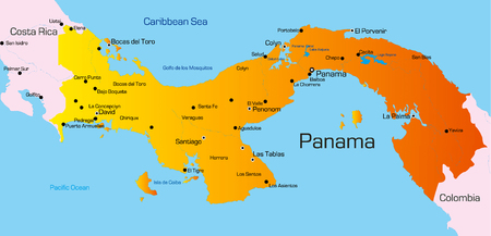 Vector color map of Panama country Vector