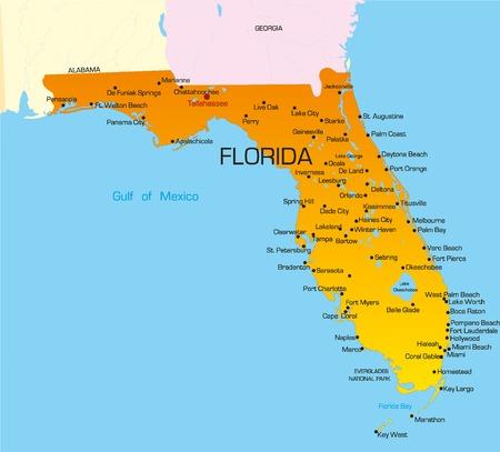 Vector couleurs état de la Floride. ETATS-UNIS