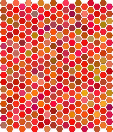 kam: Vectorillustratie van kleur honingraat ornament Stock Illustratie