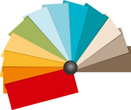 Kleuren staal illustratie. Strand toon kleur. Vector Illustratie