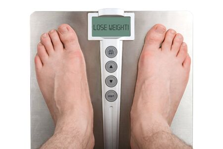Concept: Lose weight. Isolation on white Stock Photo - 4598544