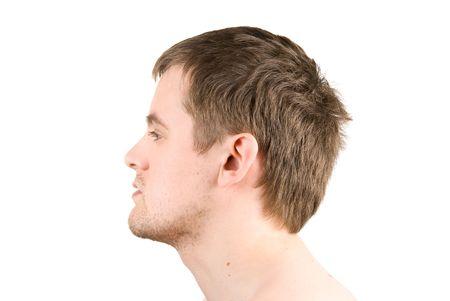 man profile portrait isolated on white Stock Photo - 4620821