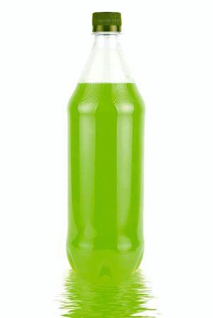 juice bottle: Green Juice bottle isolated over white background