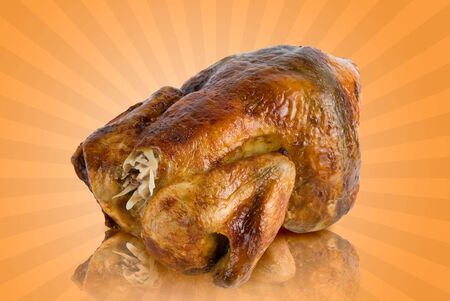 Big Tasty Crispy Roast Chicken Stock Photo - 4639891