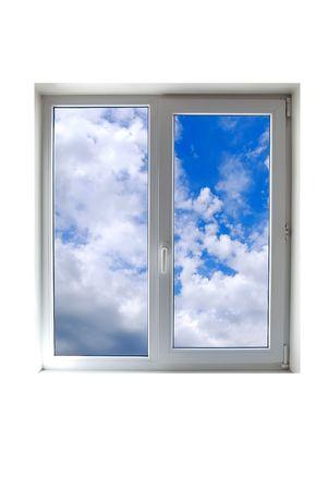 Window close up on white photo
