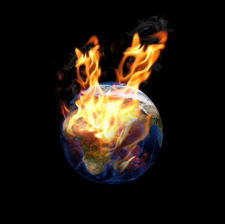 global fire problem concept.