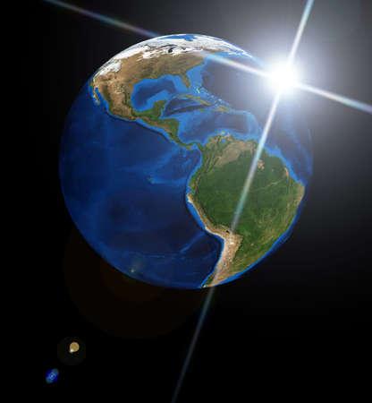 Earth planet and sun. Data source: Nasa Stock Photo - 4766749