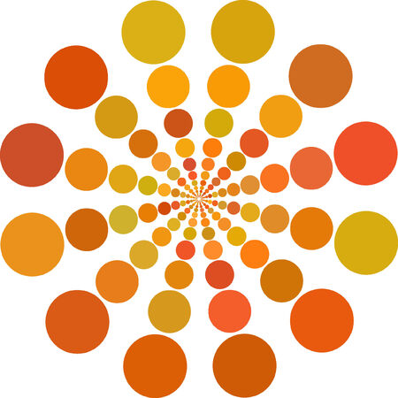 Abstract vector orange color Dots  Vector
