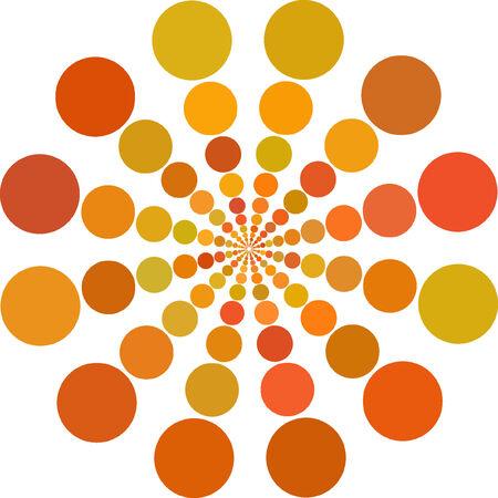 Abstract vector orange color Dots  Vector