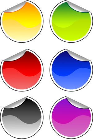 Vector illustration of different color stickers for your design