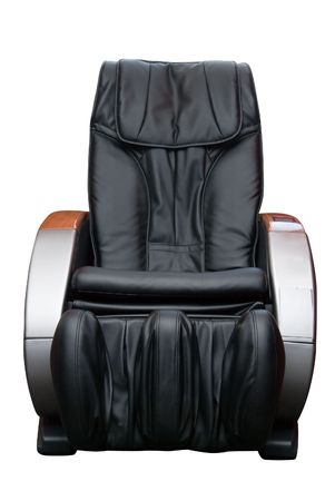 Massage armchair isolated on white background photo