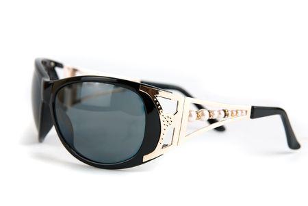 tinted glasses: Female modern sunglasses isolated on white background  Stock Photo