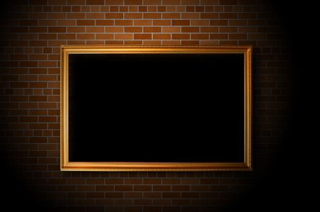 Empty frame hanging on the brick wall Stock Photo - 5125995